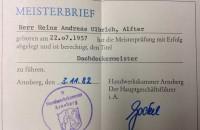Meisterbrief Von Sturm